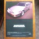 Vintage Volvo Automobile Magazine Car Ad