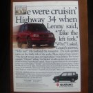 "1992 Suzuki 4-Dr Sidekick 4x4 ""Everyday vehicles that aren't"" Vintage Car Ad"