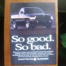 1996 Dodge Ram Sport - so good so bad - Vintage Advertisement Ad
