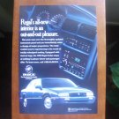 1995 Buick Regal Sedan Vintage Magazine Advertisemen