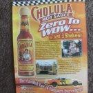 Cholula Hot Sauce Nascar magazine advertisement