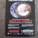 Action Racing Dealer Direct Magazine Print Advertisement (rare)