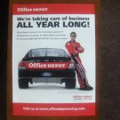 office depot carl edwards Magazine Print Ad