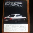Audi Vintage Magazine Advertisement