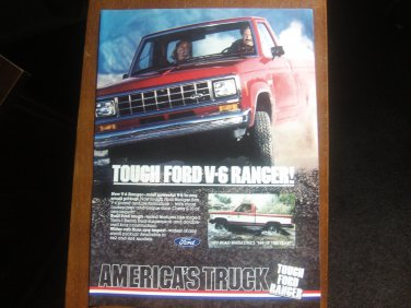 Ford Ranger Vintage Magazine Advertisement