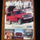 Ford Bronco II Classic Vintage Magazine Advertisement Ad