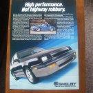 Dodge Shelby Vintage Magazine Advertisement