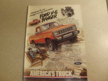 Ford Ranger Ad Advertisement Vintage