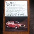 1984 Volkswagen RABBIT advertisement page, VW Rabbit Sparmeister, diesel