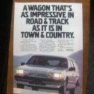 1987 VOLVO 740 GLE WAGON ORIGINAL VINTAGE AD