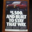1987 SUBARU JUSTY ORIGINAL VINTAGE AD