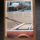 Toyota corolla liftback Vintage magazine advertisment Hatchback sr-5 deluxe
