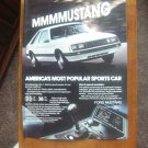 Vintage 1980 Ford Mustang print ad - MMMMUSTANG