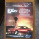 1983 Ford Mustang GT - Original Car Advertisement Print Ad