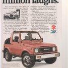 1987 SUZUKI SAMURAI advertisement, Suzuki 4x4 with 1970 Samurai model