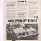 Pontiac Firebird Vintage Magazine ad advertisement