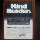 "mitsubishi car audio MAGAZINE ADvertisement ""Mind Reader"""