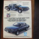 1980 Plymouth Sapporo - Diagram - Classic Vintage Advertisement Ad