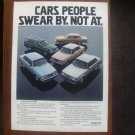 1980 Volvo GT - Swear - Classic Vintage Advertisement Ad