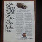 1980 Fiat Brava Classic Advertisement Ad