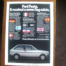 1980 Ford Fiesta 7-flag salute - Original Car Advertisement Print Ad