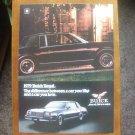 1979 Buick Regal ORIGINAL Vintage Magazine Ad