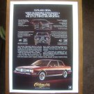 1982 Oldsmobile Cutlass Ciera Vintage Advertisement