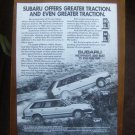 1982 Subaru 4wd Wagon Original Vintage Advertisement Ad