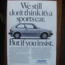 1982 HONDA CIVIC advertisement, Honda Civic GL, white sports car?