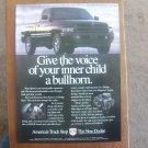 1996 Dodge Ram Sport Truck - Voice -Original Classic Vintage Advertisement Ad