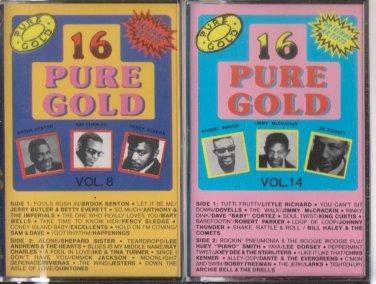 16 Pure Gold cassettes volume 8 & 14