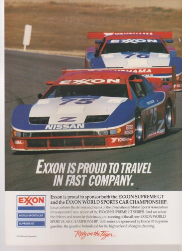 Exxon World Sports Car Championship Vintage Magazine Advertisement