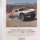 TOYOTA MOTORSPORT Vintage Magazine Advert original