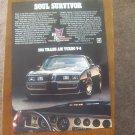 1981 PONTIAC FIREBIRD TRANS-AM TURBO V8 SOUL SURVIVOR ORIGINAL COLOR MAGAZINE AD