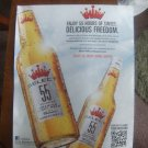Budweiser Select 55 Beer Magazine Advertisement