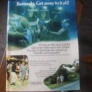 Bermuda. Get away to it all! Vintage Magazine Advertisement ad