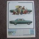 1963 Dodge Dart Nice Vintage Instroductory Magazine Advertisement