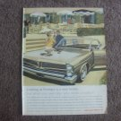 Vintage 1963 Magazine Ad Pontiac We Keep Drivers And Passengers Firmly In Mind
