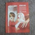 Vintage Magazine Print Ad Soft Northern Paper Towels