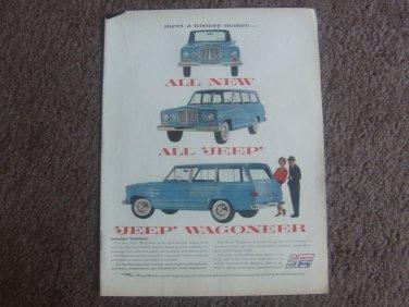 1962 VINTAGE AD INTRODUCING JEEP WAGONEER