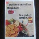 1967 Nabisco Hamies Ham flavored crackers Rare Vintage Print Ad