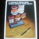 VINTAGE MAGAZINE AD CAMPBELL'S PORK & BEANS