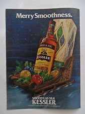 1978 Print Ad Kessler American Whisky ~ Merry Smoothness