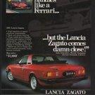 1981 Red LANCIA ZAGATO Sports Car JODY SCHECKTER - FERRARI VS. LANCIA VINTAGE AD