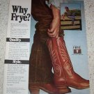 1981 advertising - Frye mens Cowboy western Boots