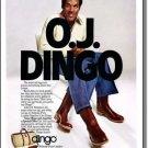 O. J. Simpson Photo Dingo Boots Collectible Vintage Ad 1978