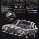 1981 Ford Granada - silver 4-door - Classic Vintage Advertisement Ad