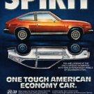 1981 American Motors Spirit AMC - Steel - Classic Vintage Advertisement