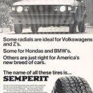 1978 Volkswagen VW Scirocco Semperit - Classic Vintage Advertisement