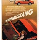 1981 Ford Mustang T-Top MMMMUSTANG Vintage Print Ad